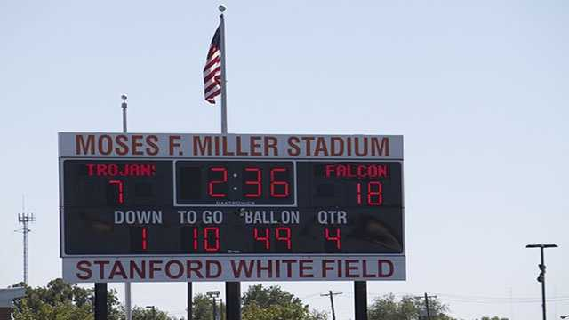 Millwood held onto an 18 point lead that saw Douglass finally score late in the 4th quarter. The final was 18-7 with the Falcons winning.