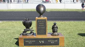 Millwood will get to take home his large trophy for winning this years game. The trophy is quite possibly the coolest one used for an Oklahoma rivalry.