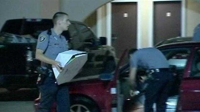 Five people police say were stealing construction materials are now in custody.