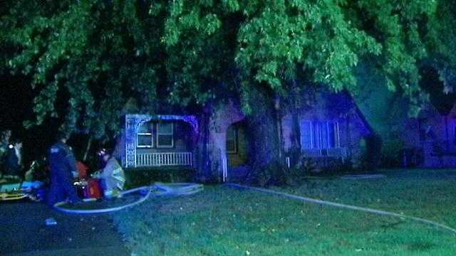 Two people are headed to the hospital because of a fire at their home.