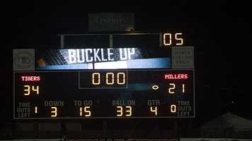 Norman wins their first game at home against the Millers 34-21.
