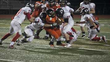 With a mixture of athletic running backs, A'reion Hines (8) for Norman runs for all yards possible on this carry. Norman High has improved weekly and Hines has been one of the workhorses for the Tigers.