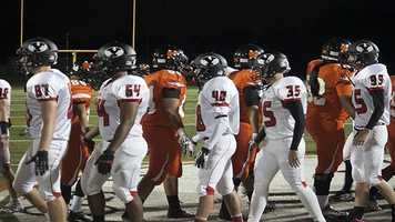 Sportsmanship displayed by both teams after the Tigers were able to top the Millers 34-21.