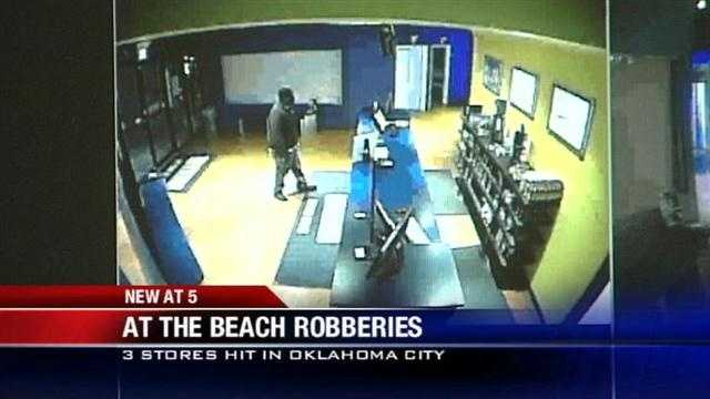 Armed robberies at three metro tanning salons in less than a week. Police say the gunman walks in near closing time and demands cash. KOCO's Carla Wade has the story.