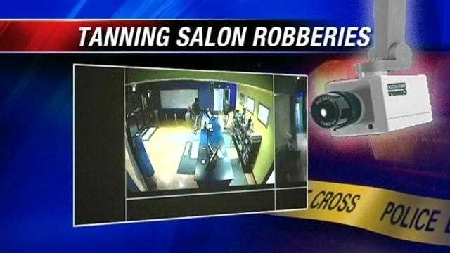 Oklahoma City police say three salons were hit.