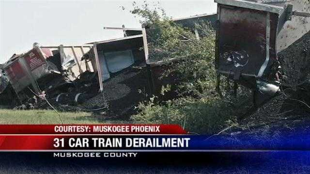 The cleanup is under way after a massive train derailment in Oklahoma.