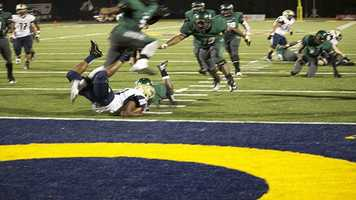 Spead would have the unfortunate experience of having his feet almost touch his helmet in this body crunched landing.