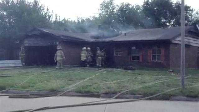 Oklahoma City house fire destroys home in the 1300 block of Southwest 81st Place.