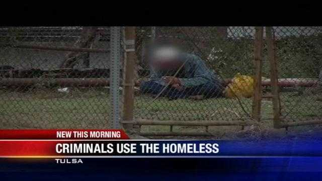 Criminals use homeless