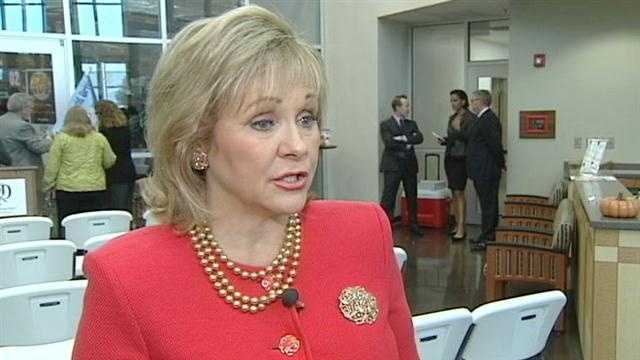 Oklahoma Gov. Mary Fallin said she is waiting on state lawmakers to send her legislation similar to the Adam Walsh Act to her desk.