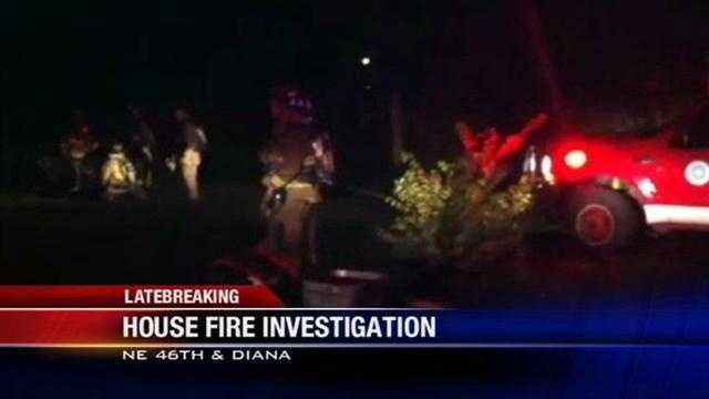 Firefighters are investigating the cause of an overnight house fire.