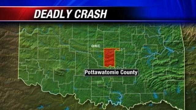 Police say a deadly crash closed part I-40 eastbound in Pottawatomie County early Tuesday morning.
