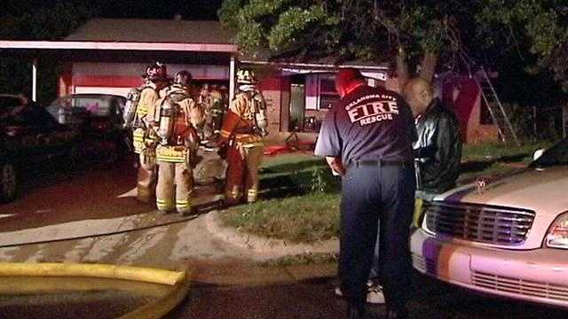 A family of six escaped an overnight home fire in Oklahoma City leaving several injured.