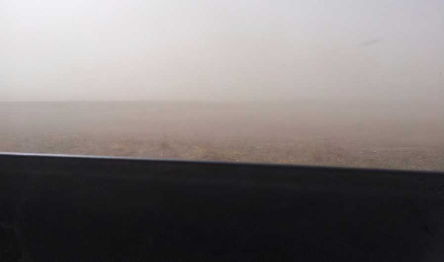 This photo from Stephen Gory shows the dust-settled landscape.