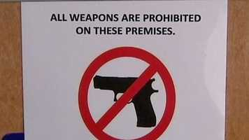 These businesses are prohibiting people from carrying weapons on their property.
