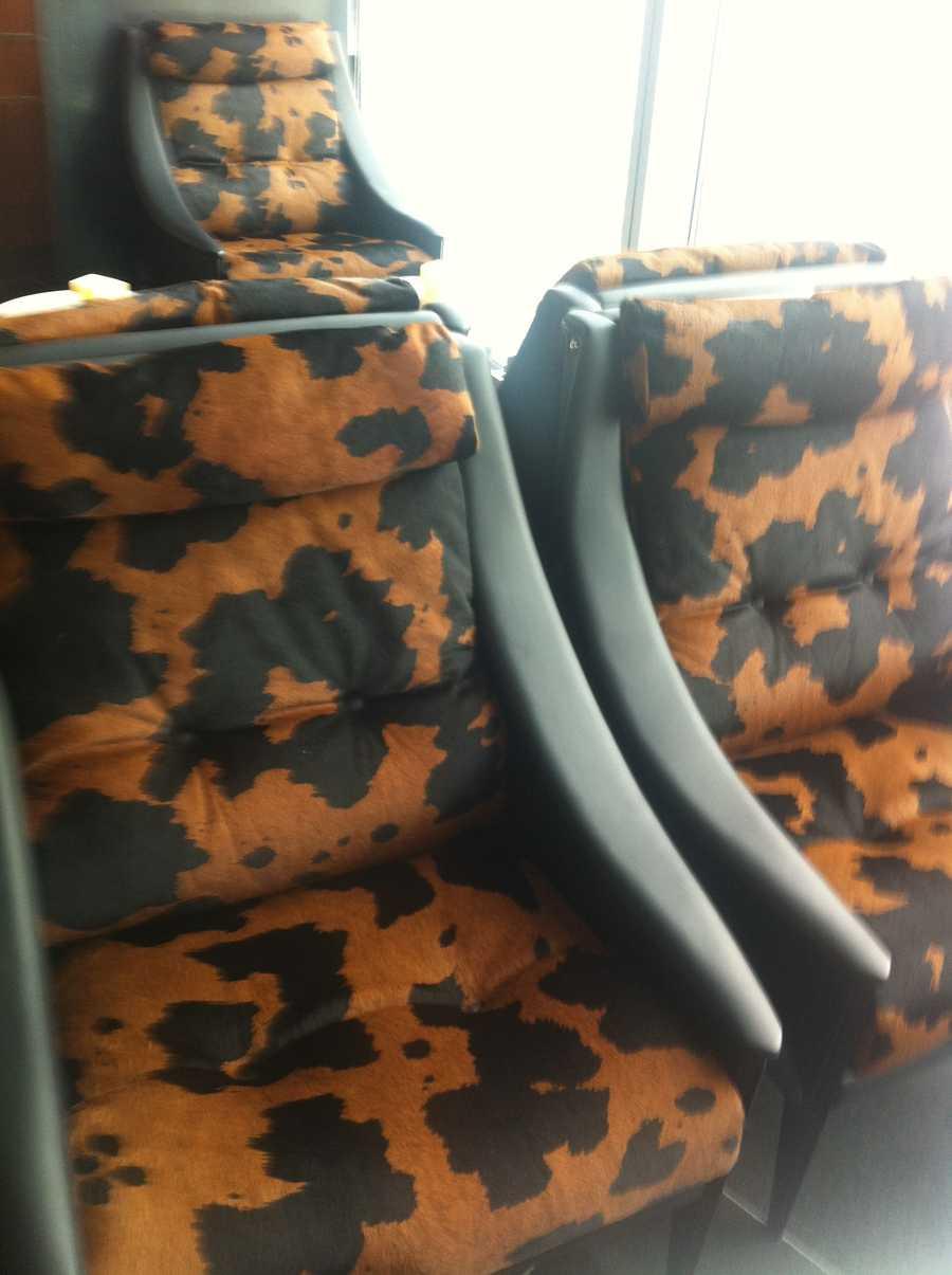 Cowhide seating