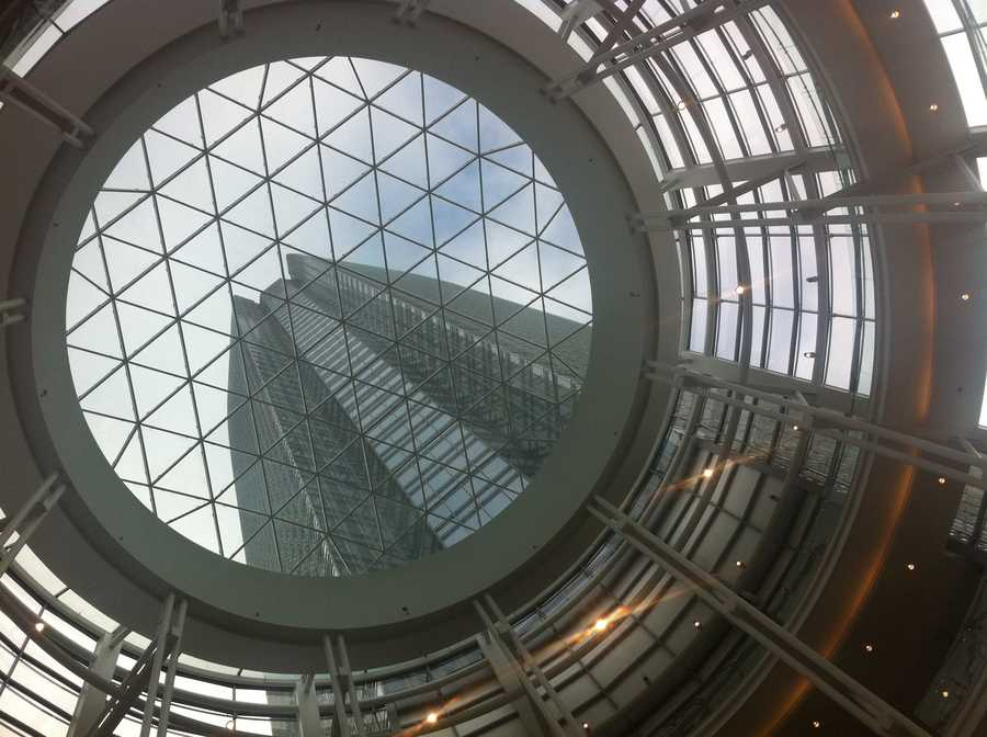 Looking up through the rotunda.
