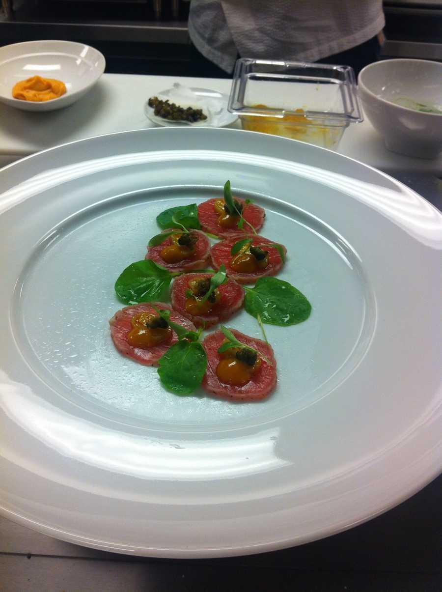 What Vast hopes to be their signature dish Seared ahi tuna carpaccio.