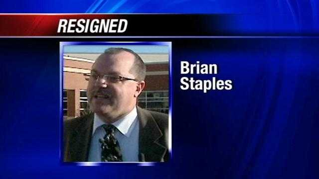 Superintendent Karl Springer announced the resignation of Dr. Brian Staples on Wednesday. Staples had been the principal of Douglass Mid-High School.