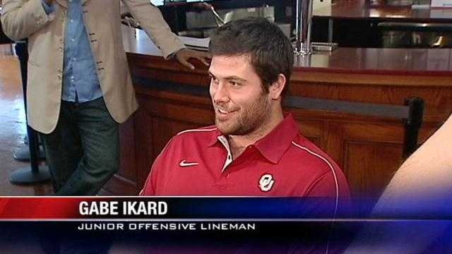 Just a couple of days from the big game between OU and Notre Dame, and we talk to Gabe Ikard who was in fact recruited by the Fighting Irish.