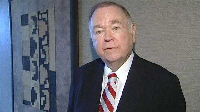 University of Oklahoma President David Boren says his school will review policies after a stalking suspect made his way back onto campus.