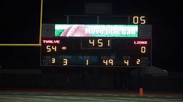 North led 54-0 before the 4th quarter and were able to prevent the Lions from a single touchdown.