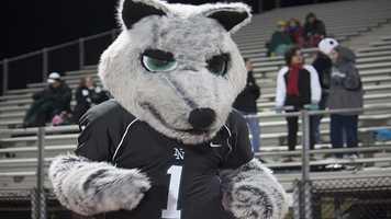 Norman North's Timberwolf mascot