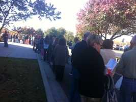 KOCO's Carla Wade tells us it's a 2-hour wait at Life Church in Edmond.