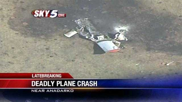 Sky5 is above the scene of a plane crash near the Anadarko airport. KOCO's Paul Folger has the latest.