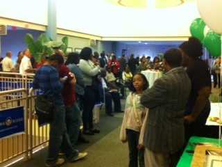 KOCO's Carla Wade snapped this photo from Oklahoma's Democratic Watch Party.