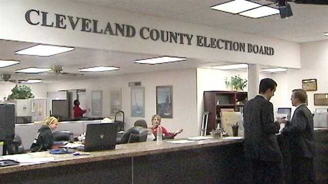 The State House race between Aaron Stiles and Paula Roberts is in limbo while Cleveland County election board officials review provisional ballots.