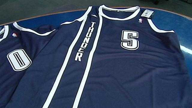 The Oklahoma City Thunder went with a classic look and feel for its new third jerseys. KOCO Sports Director Bob Irzyk has more.