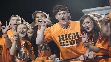 """The Norman High student section was a rowdy and loud bunch during this week's playoff game. Shirts that they wore to the game included a """"Tiger Up"""" phrase, inspired by the Oklahoma City Thunder's 'Thunder Up' phrase."""