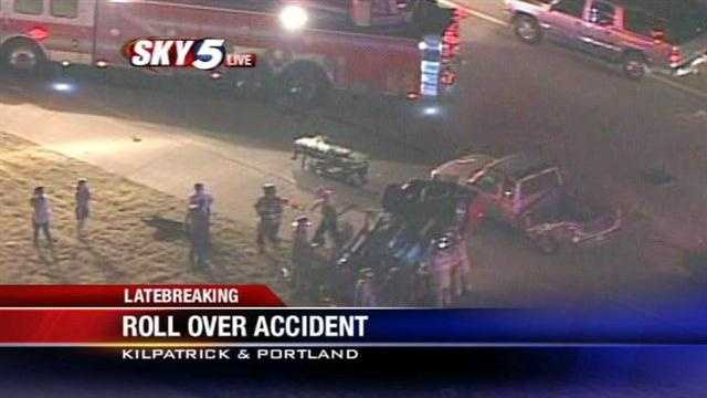 At least 1 hurt in rollover crash in NW OKC