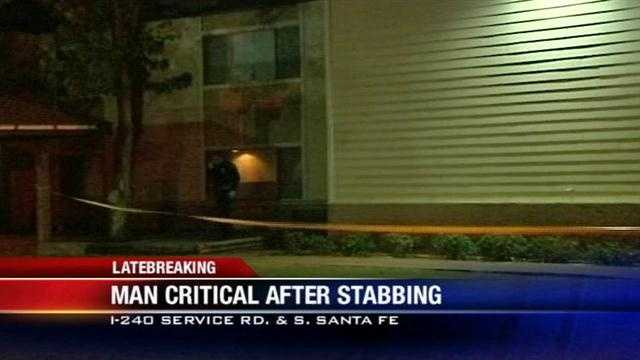 A man is in critical condition after being stabbed in south Oklahoma City.