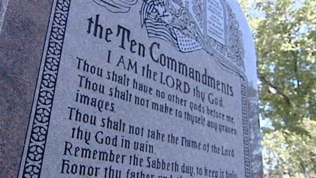 A new Ten Commandments monument placed on the north entrance of the Oklahoma state capitol has caused people to take notice because of a couple of misspellings.