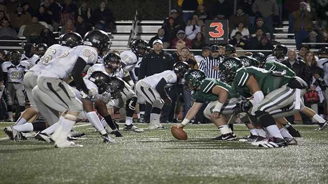 Norman North's offensive front was able to give quarterback Peyton Gavras enough time as he passed for over 260 yards, with 33 of those yards being a pass to receiver Corbin Cleveland.