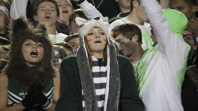 Norman North students packed the bleachers and were on their feet the entire game, being hands down the loudest crowd at Harve Collins this season.