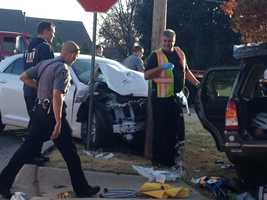 KOCO's Kim Passoth snapped these photos at the scene of a rollover crash in northwest Oklahoma City on Nov. 19.