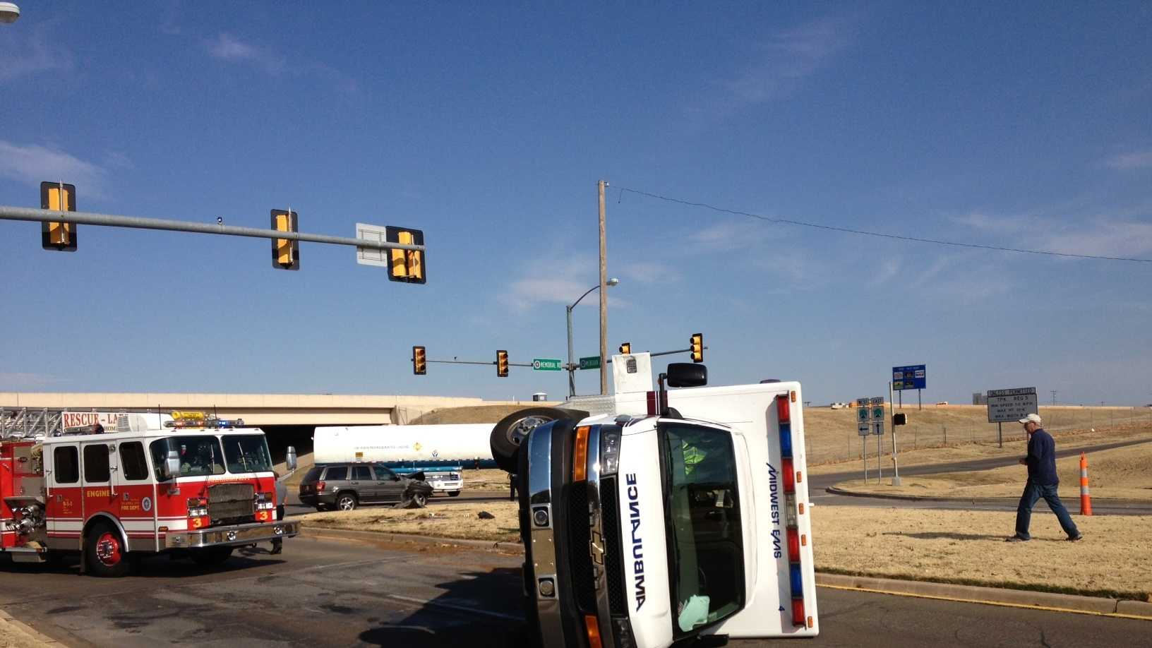 Midwest City ambulance crash.JPG
