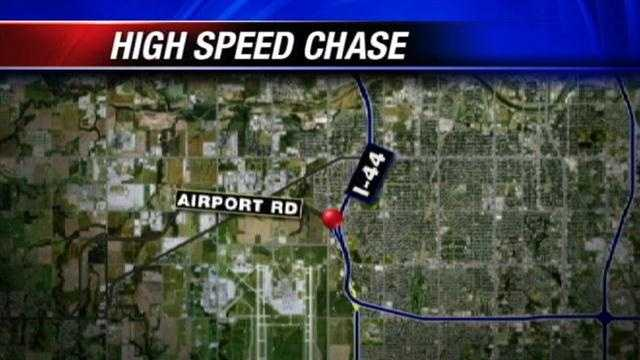 Police had to use helicopter assistance during a high speed chase.