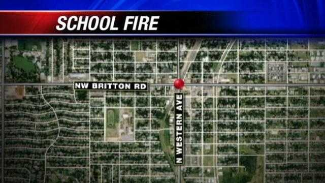 Old high school catches fire