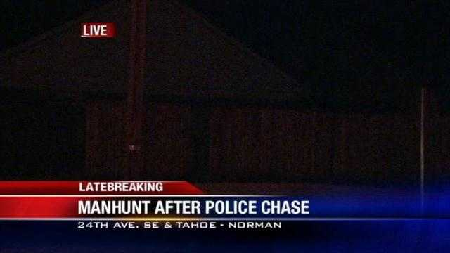 Police search for a man after a chase