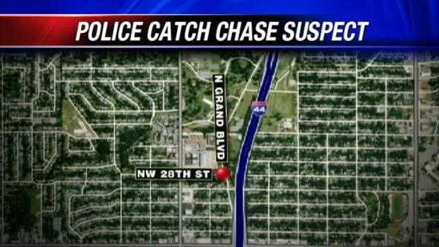 Oklahoma City police caught a man who attempted to run from them in an early morning chase.