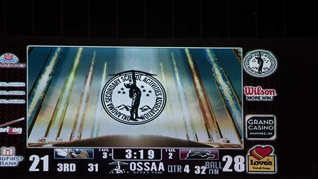 This would be the final score of the Class 3A title game as the Lions held the lead for the majority of the night.