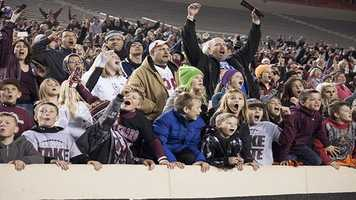 The Lions fans were loud and clear of support when they realized the team would win their second state title in the schools history.