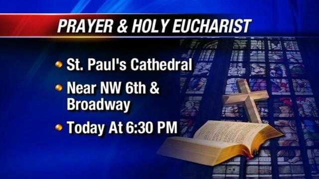 St. Paul's Cathedral will hold a prayer service and Holy Eucharist for the victims of the Newtown, CT school shooting on Monday.