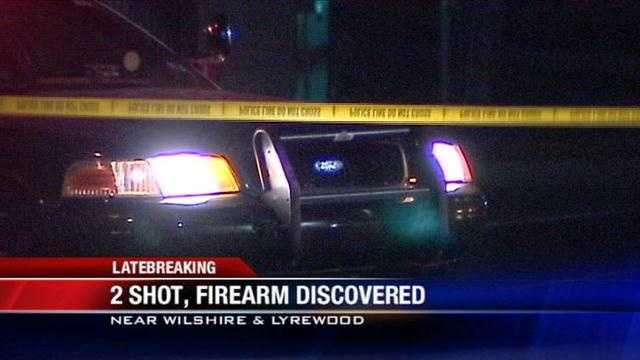 Oklahoma City police say two people were shot near Wilshire and Lyrewood Monday night. Both are expected to be okay.