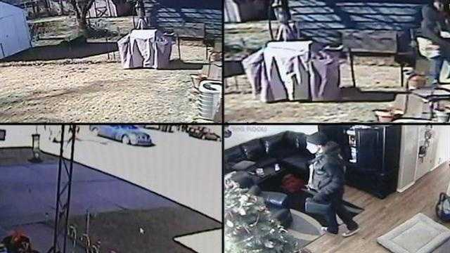 A local family posted video and picture of thieves stealing from their home in hopes that someone knows who they are.