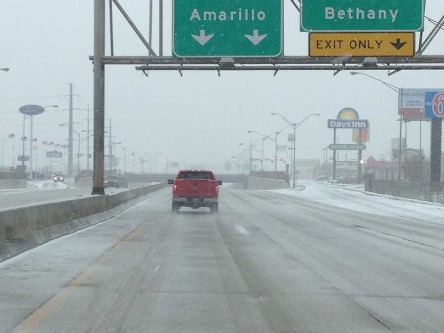 Michael Seiden (@mseidenkoco5) sent us this photo, his view from Interstate 44 on Tuesday.